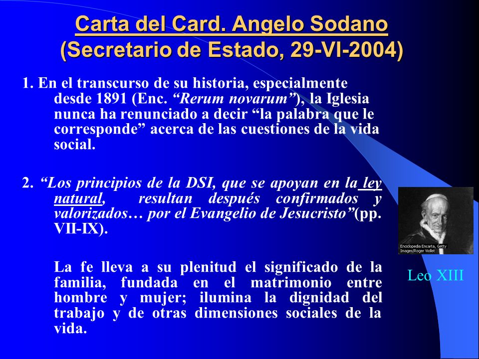 Carta del Card. Angelo Sodano (Secretario de Estado, 29-VI-2004)