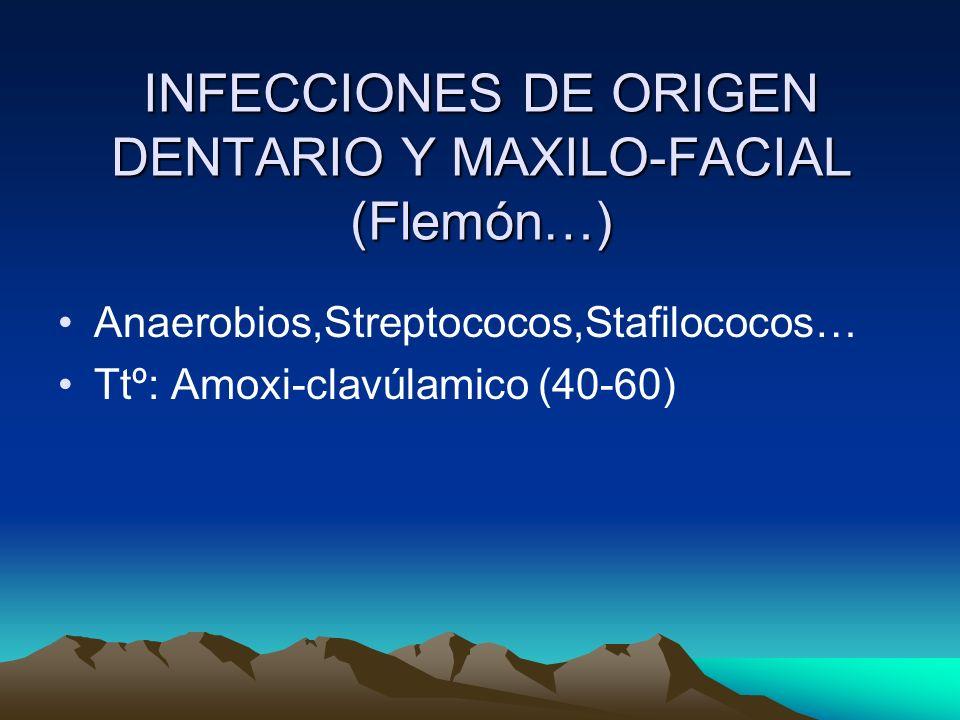 INFECCIONES DE ORIGEN DENTARIO Y MAXILO-FACIAL (Flemón…)