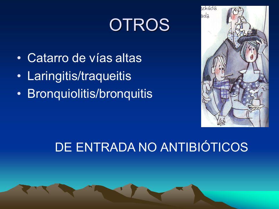 OTROS Catarro de vías altas Laringitis/traqueitis