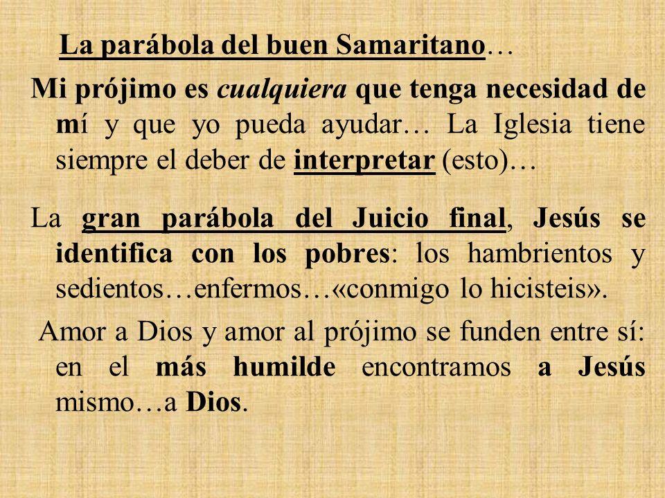 La parábola del buen Samaritano…