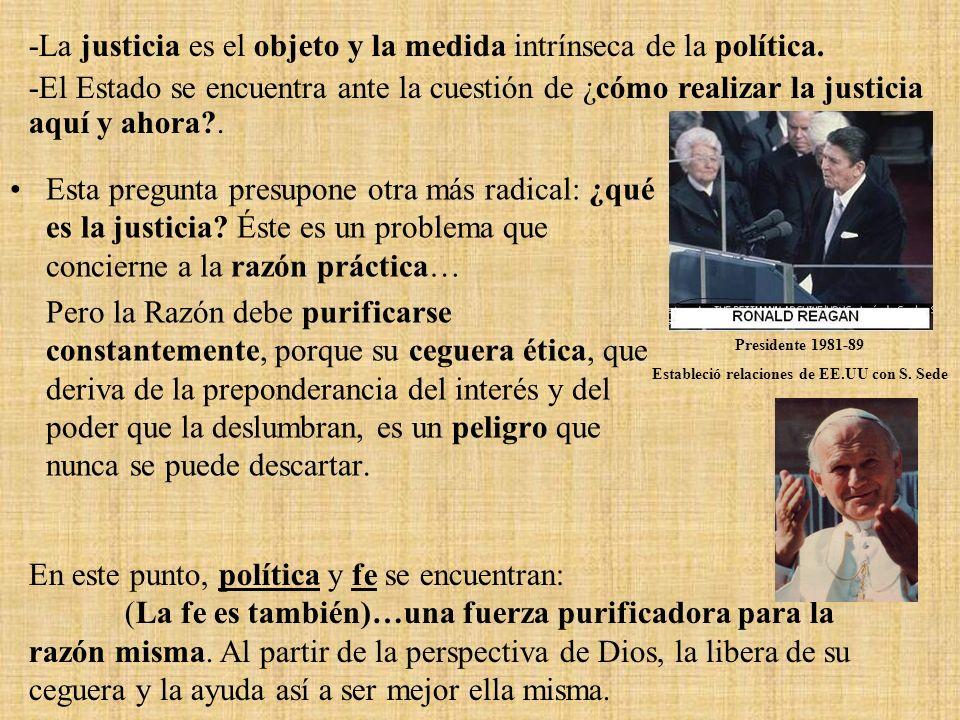 Estableció relaciones de EE.UU con S. Sede