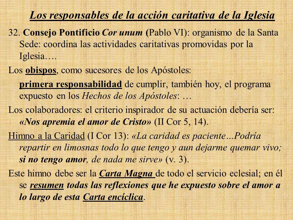 Los responsables de la acción caritativa de la Iglesia