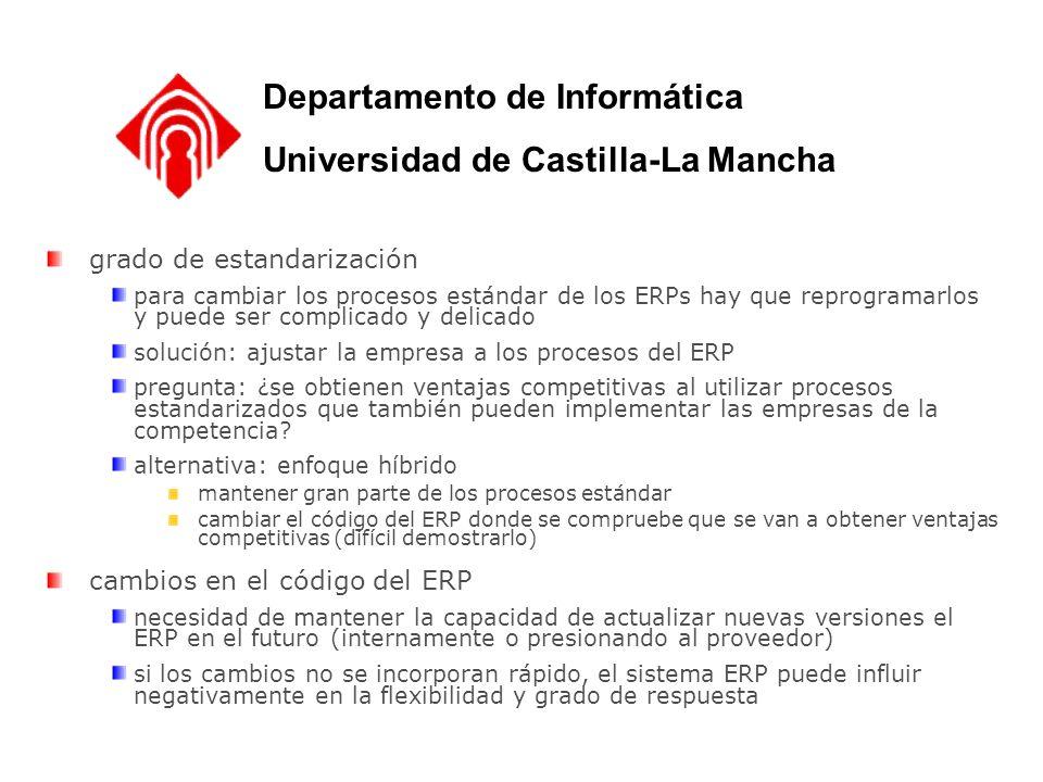 Departamento de Informática Universidad de Castilla-La Mancha
