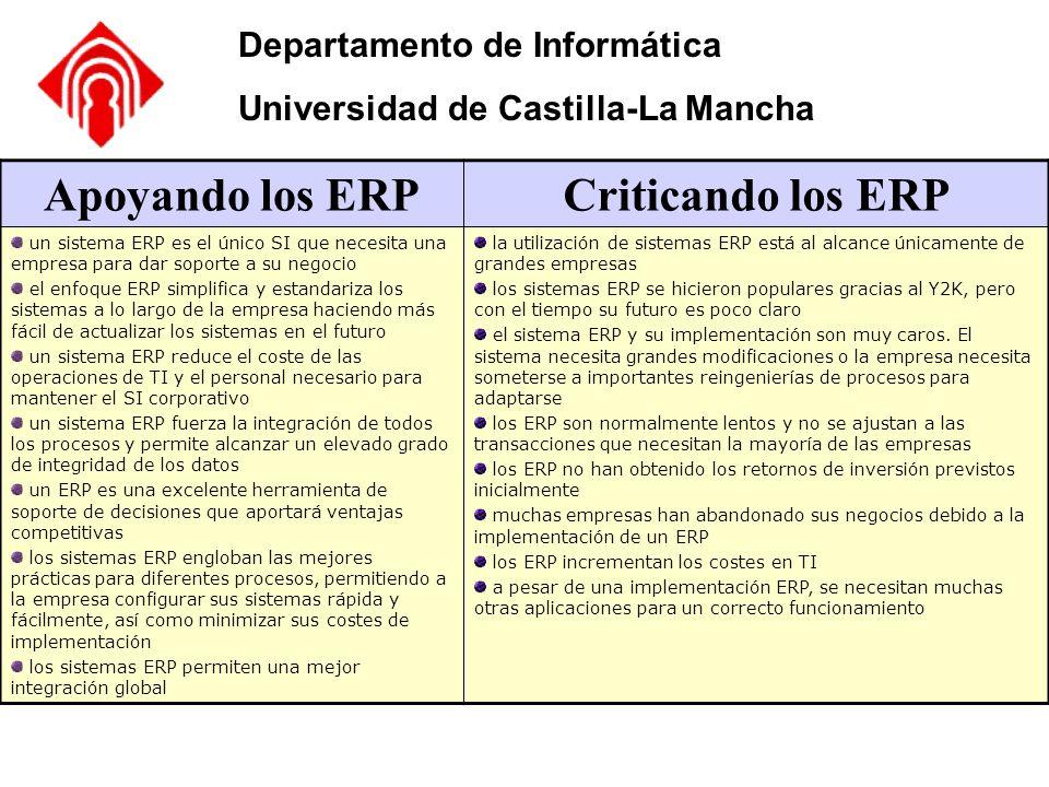 Apoyando los ERP Criticando los ERP