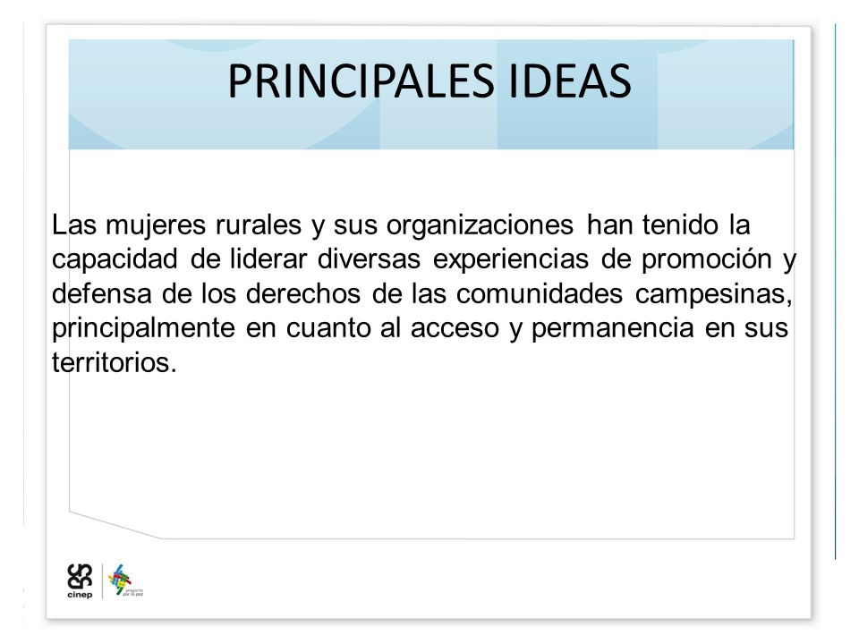 PRINCIPALES IDEAS