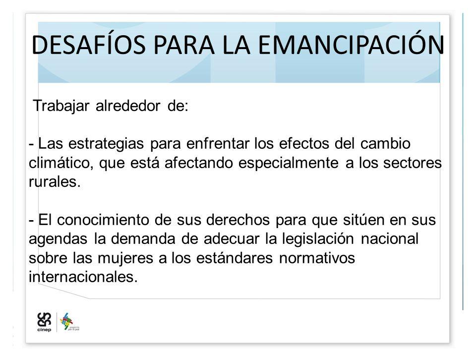 DESAFÍOS PARA LA EMANCIPACIÓN
