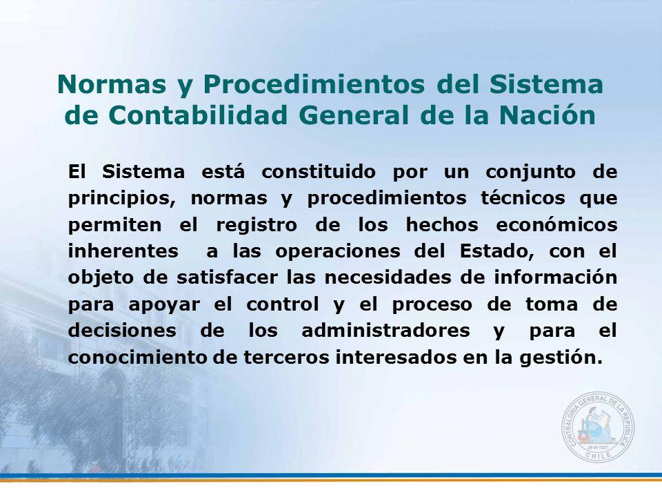 Normas y Procedimientos del Sistema de Contabilidad General de la Nación