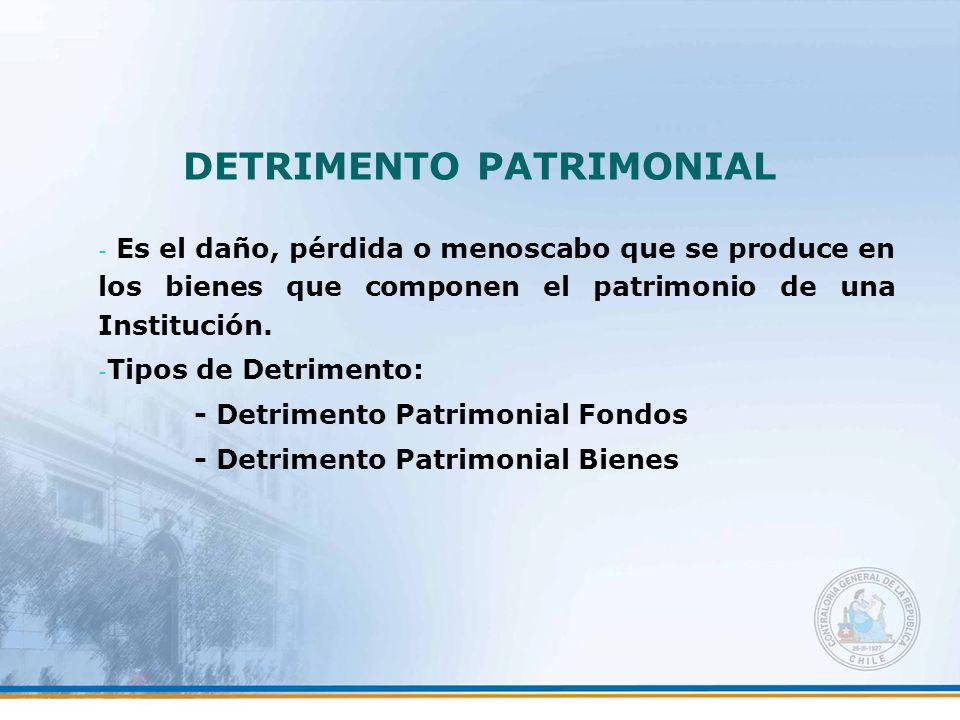 DETRIMENTO PATRIMONIAL