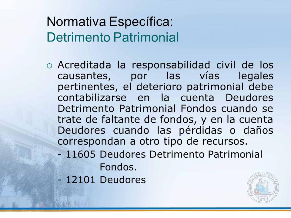 Normativa Específica: Detrimento Patrimonial