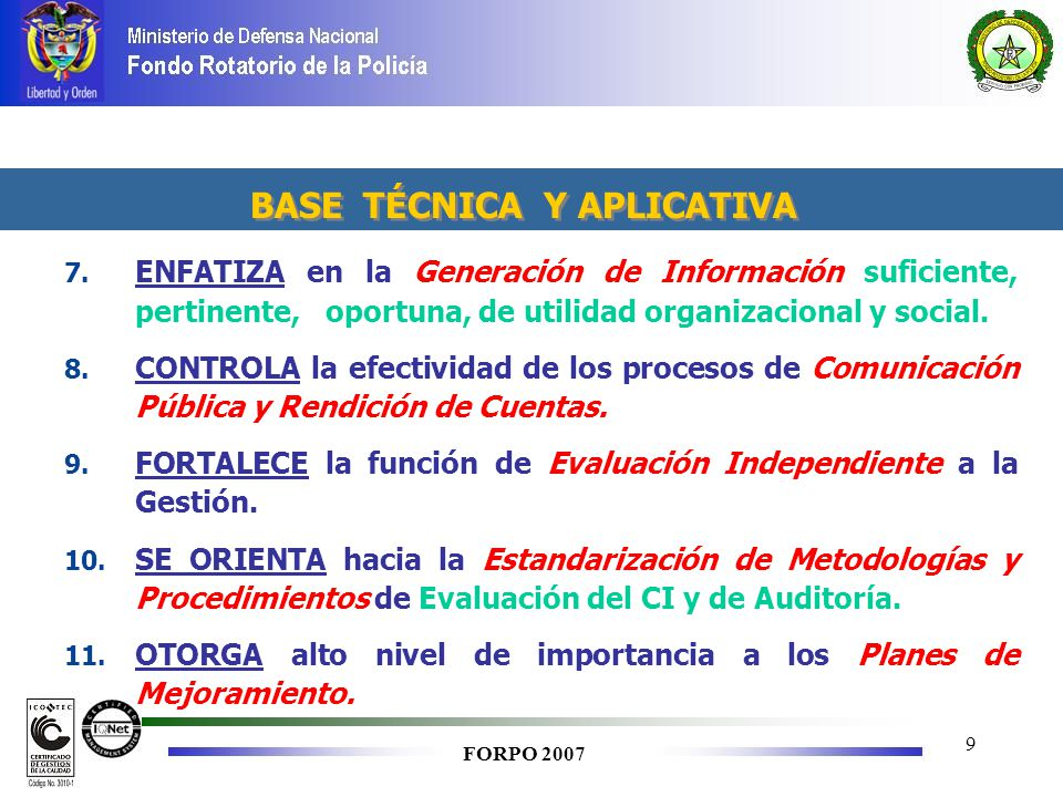 BASE TÉCNICA Y APLICATIVA