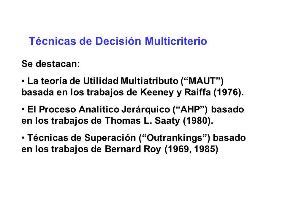 Técnicas de Decisión Multicriterio