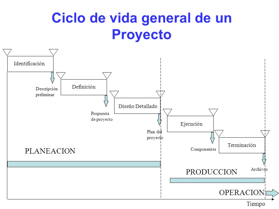 Ciclo de vida general de un Proyecto