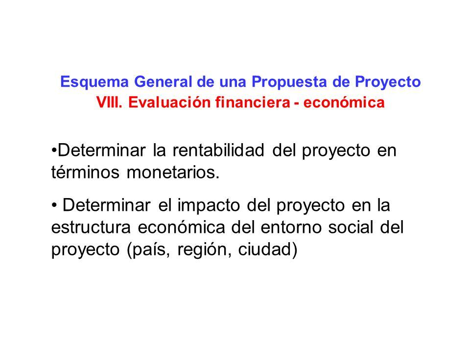 Determinar la rentabilidad del proyecto en términos monetarios.