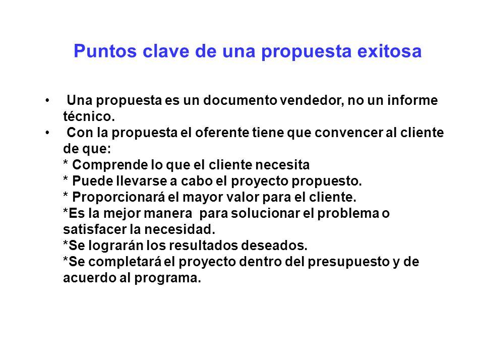 Puntos clave de una propuesta exitosa