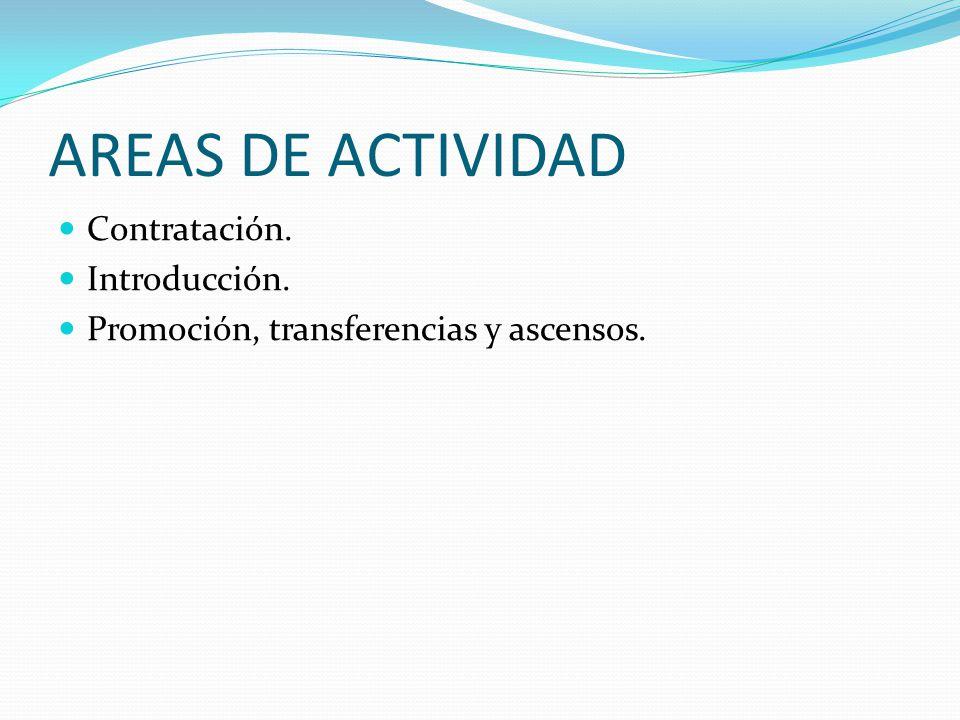 AREAS DE ACTIVIDAD Contratación. Introducción.