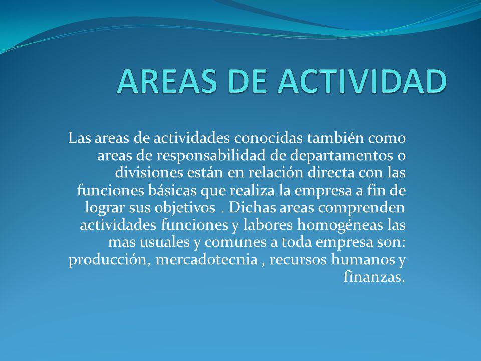 AREAS DE ACTIVIDAD