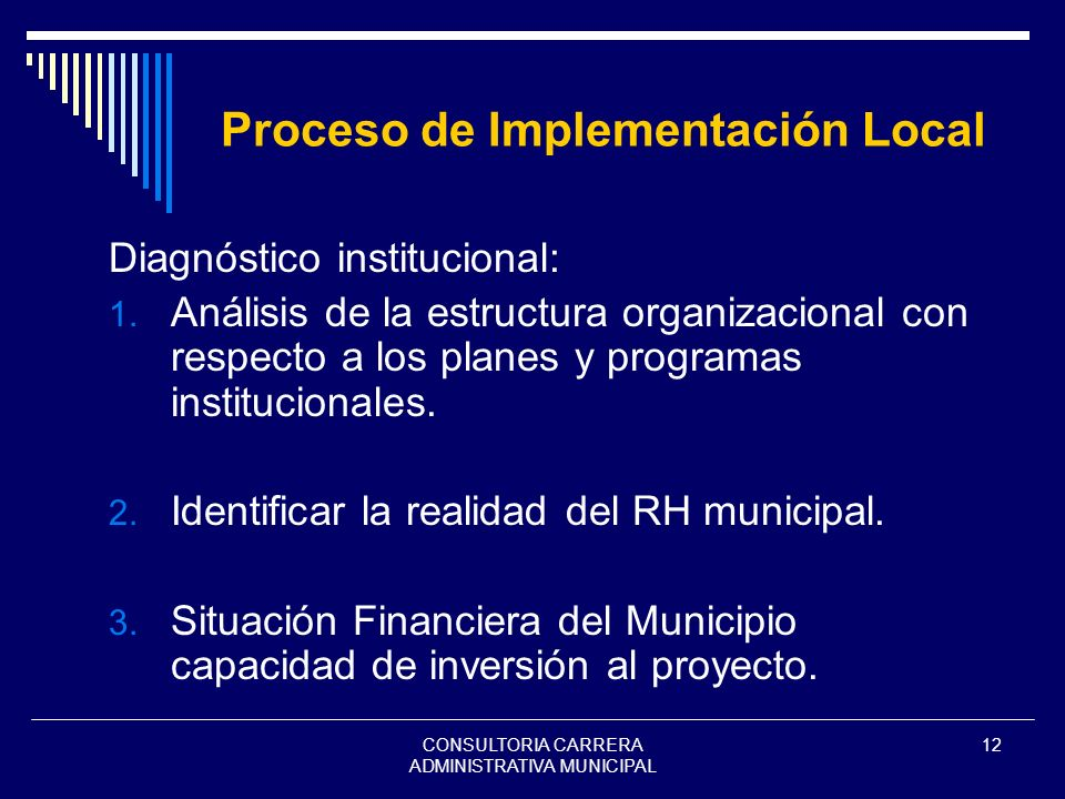 Proceso de Implementación Local