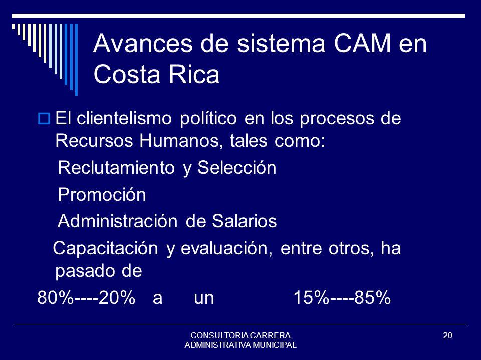 Avances de sistema CAM en Costa Rica