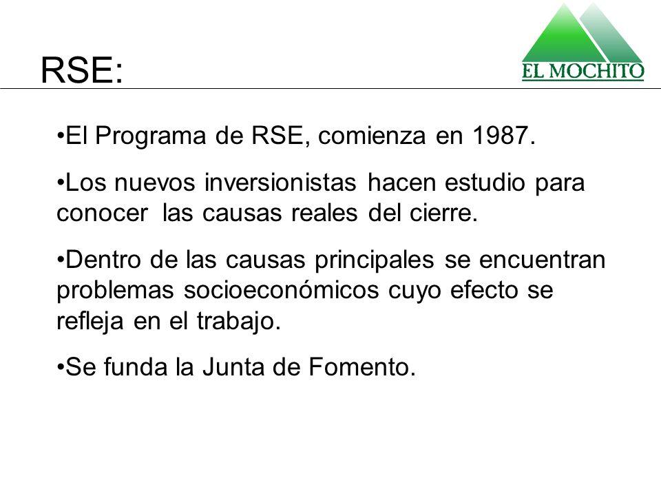 RSE: El Programa de RSE, comienza en 1987.