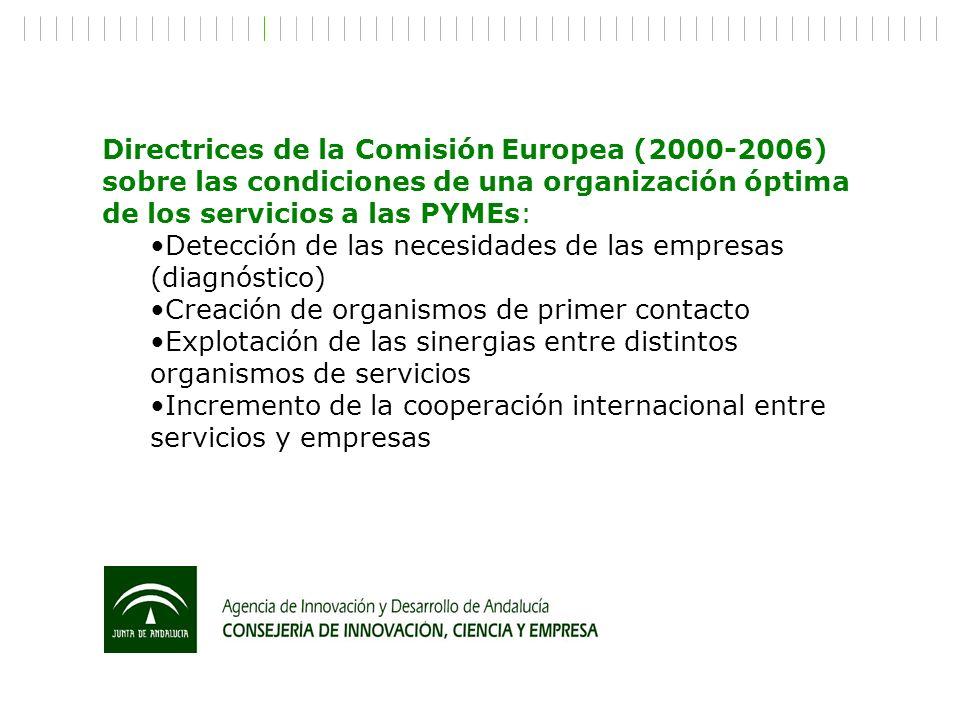 Directrices de la Comisión Europea (2000-2006) sobre las condiciones de una organización óptima de los servicios a las PYMEs: