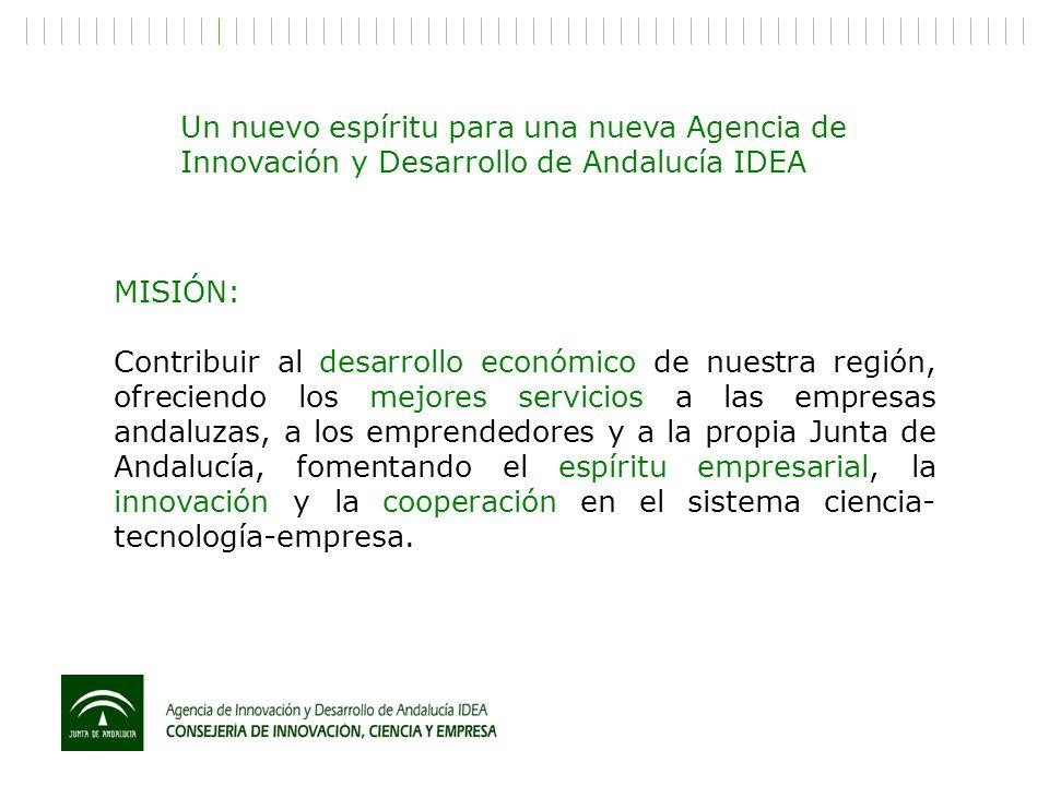 Un nuevo espíritu para una nueva Agencia de Innovación y Desarrollo de Andalucía IDEA