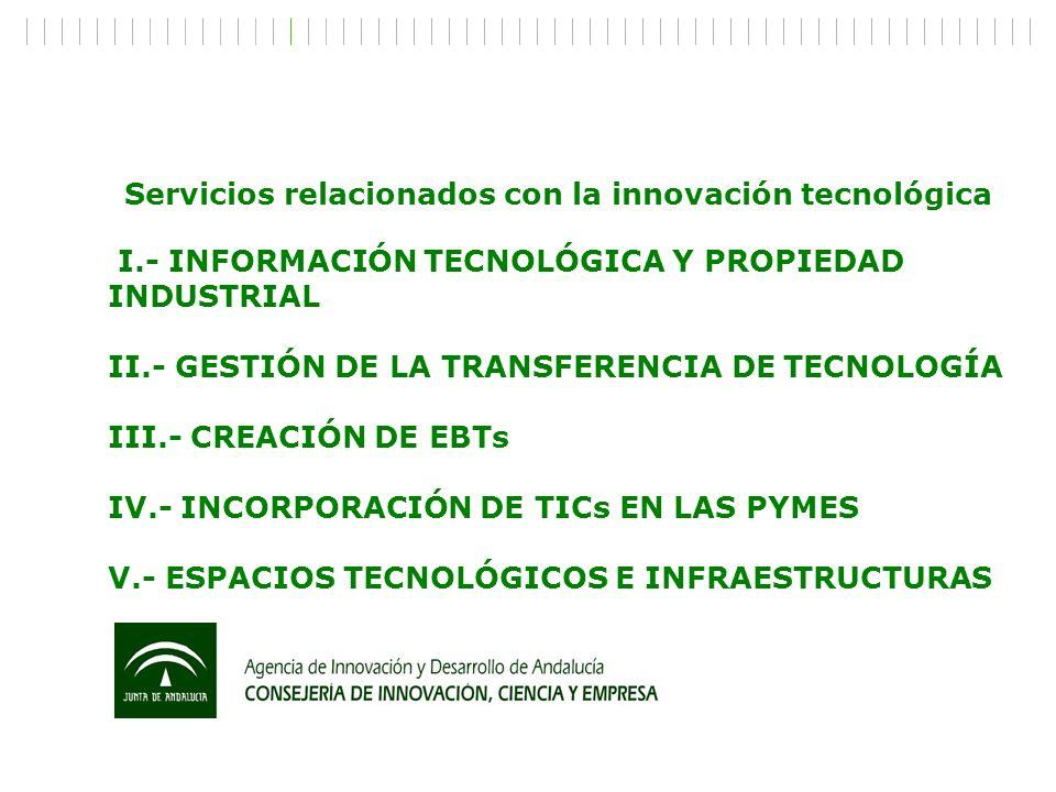 Servicios relacionados con la innovación tecnológica