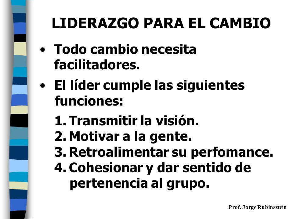 LIDERAZGO PARA EL CAMBIO