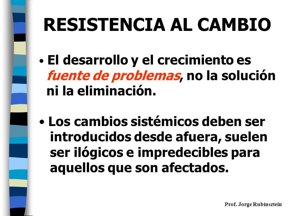 RESISTENCIA AL CAMBIO fuente de problemas, no la solución