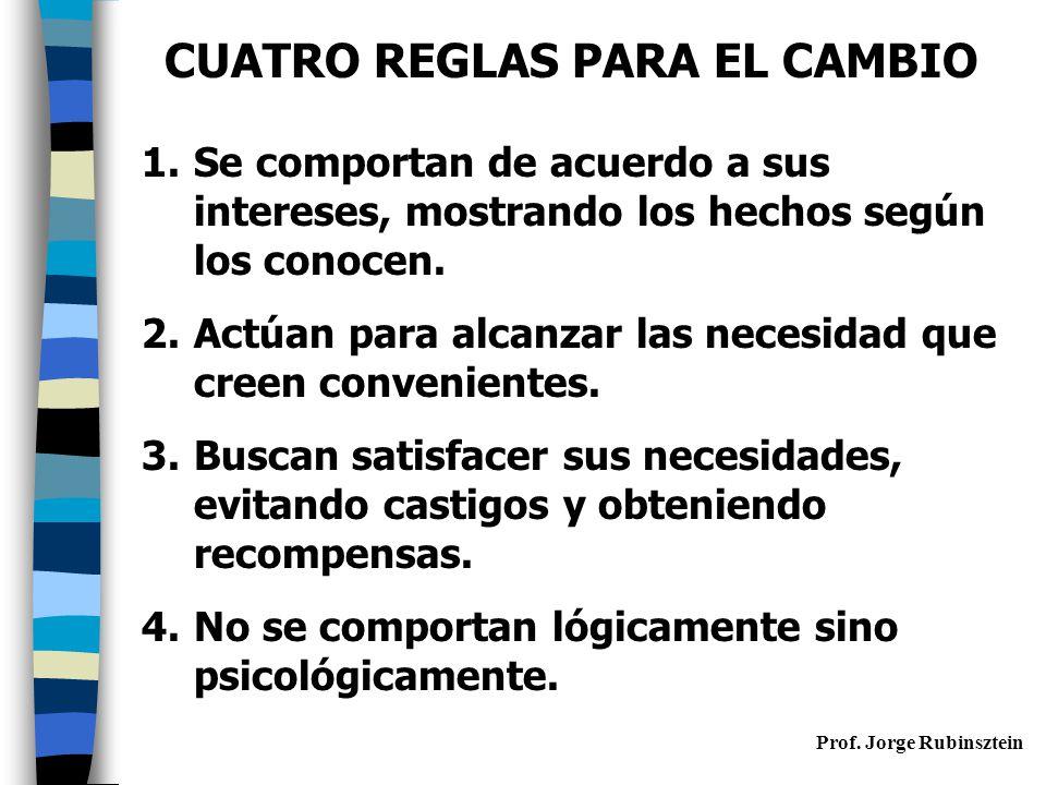 CUATRO REGLAS PARA EL CAMBIO
