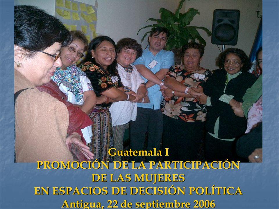 PROMOCIÓN DE LA PARTICIPACIÓN EN ESPACIOS DE DECISIÓN POLÍTICA