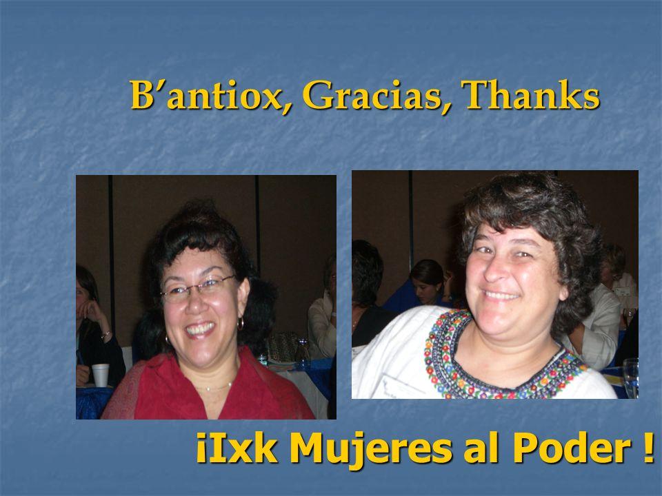 B'antiox, Gracias, Thanks