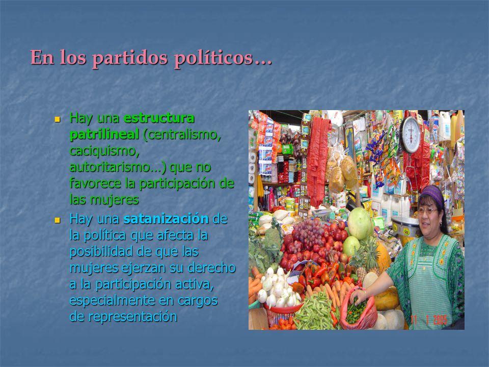 En los partidos políticos…