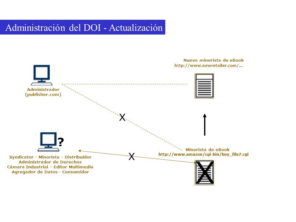 Administración del DOI - Actualización X X