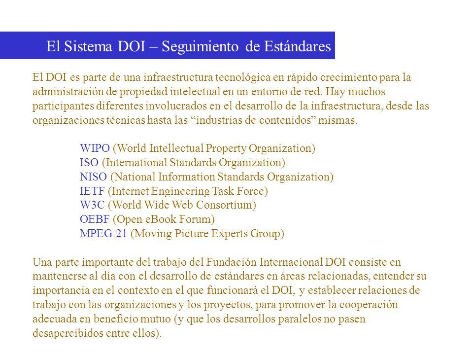 El Sistema DOI – Seguimiento de Estándares
