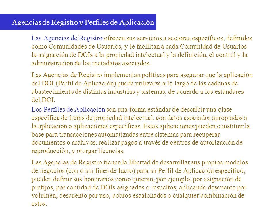 Agencias de Registro y Perfiles de Aplicación