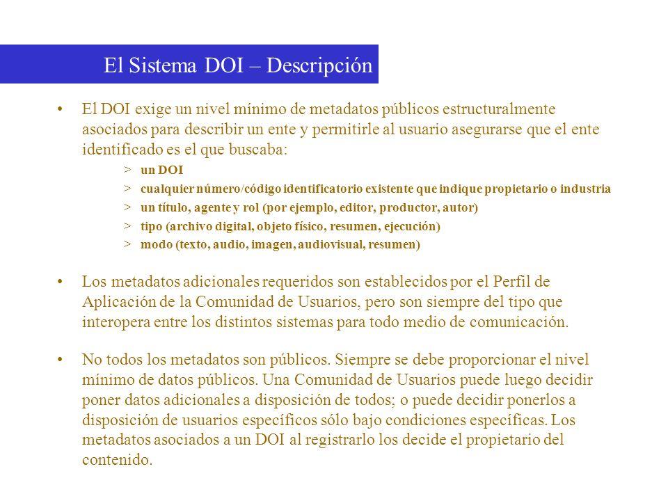 El Sistema DOI – Descripción