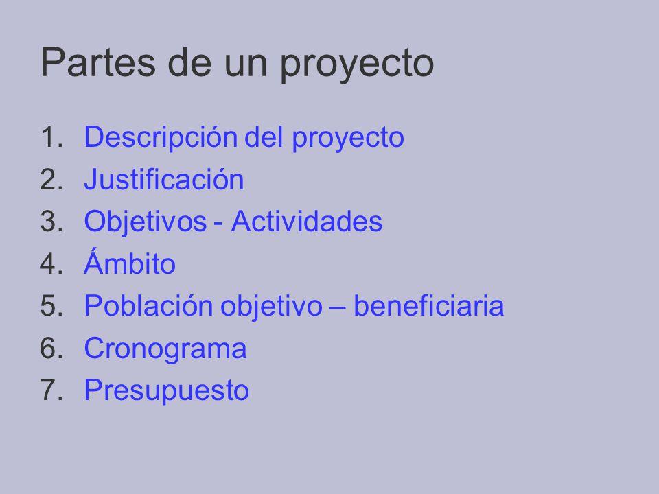 Pautas para la elaboraci n de un proyecto de intervenci n for Proyecto para una cantina escolar
