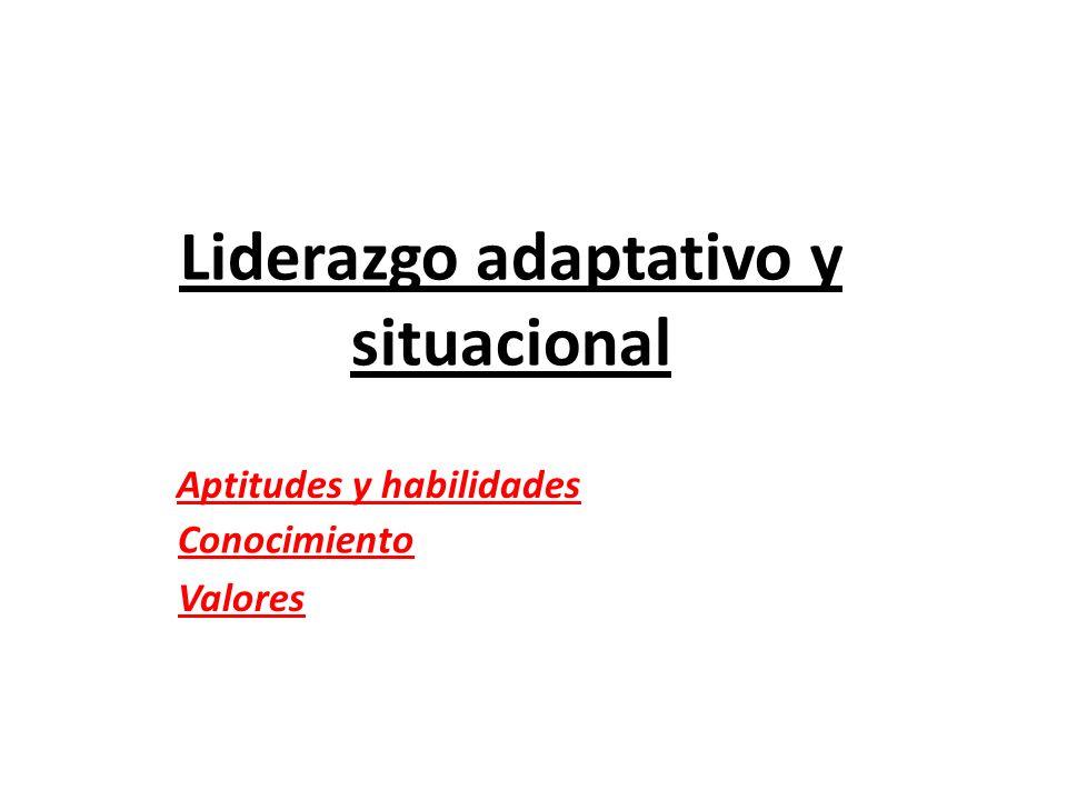 Liderazgo adaptativo y situacional