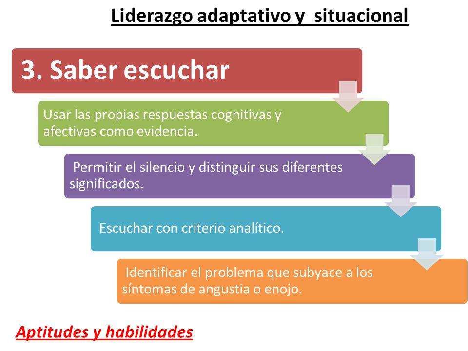 3. Saber escuchar Liderazgo adaptativo y situacional