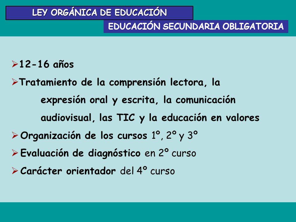 LEY ORGÁNICA DE EDUCACIÓN EDUCACIÓN SECUNDARIA OBLIGATORIA