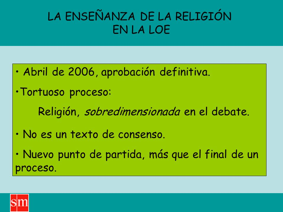 LA ENSEÑANZA DE LA RELIGIÓN