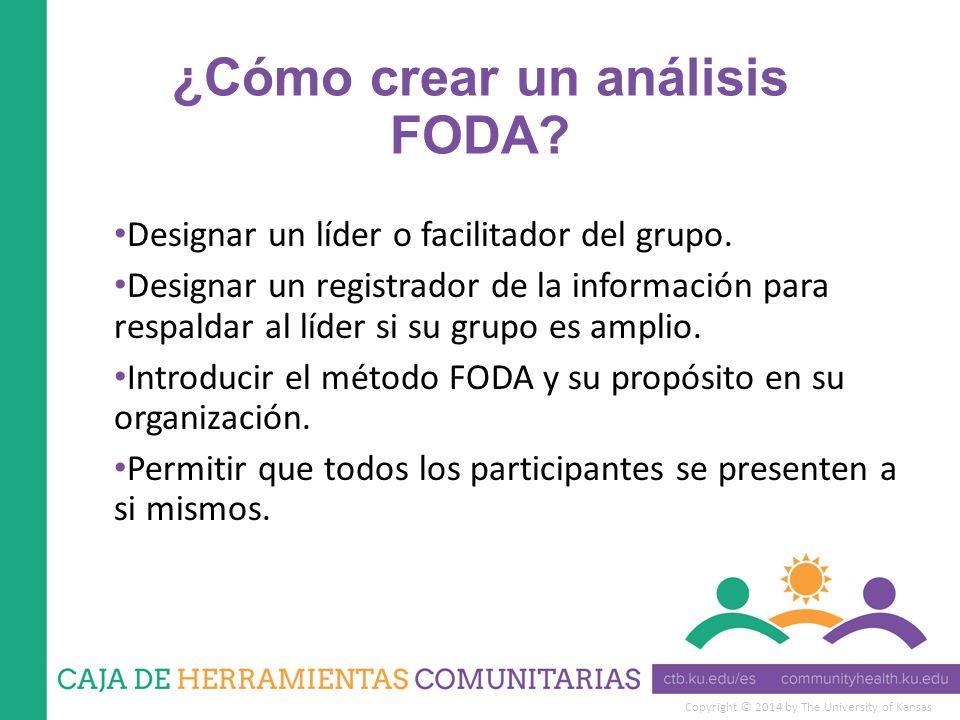 ¿Cómo crear un análisis FODA