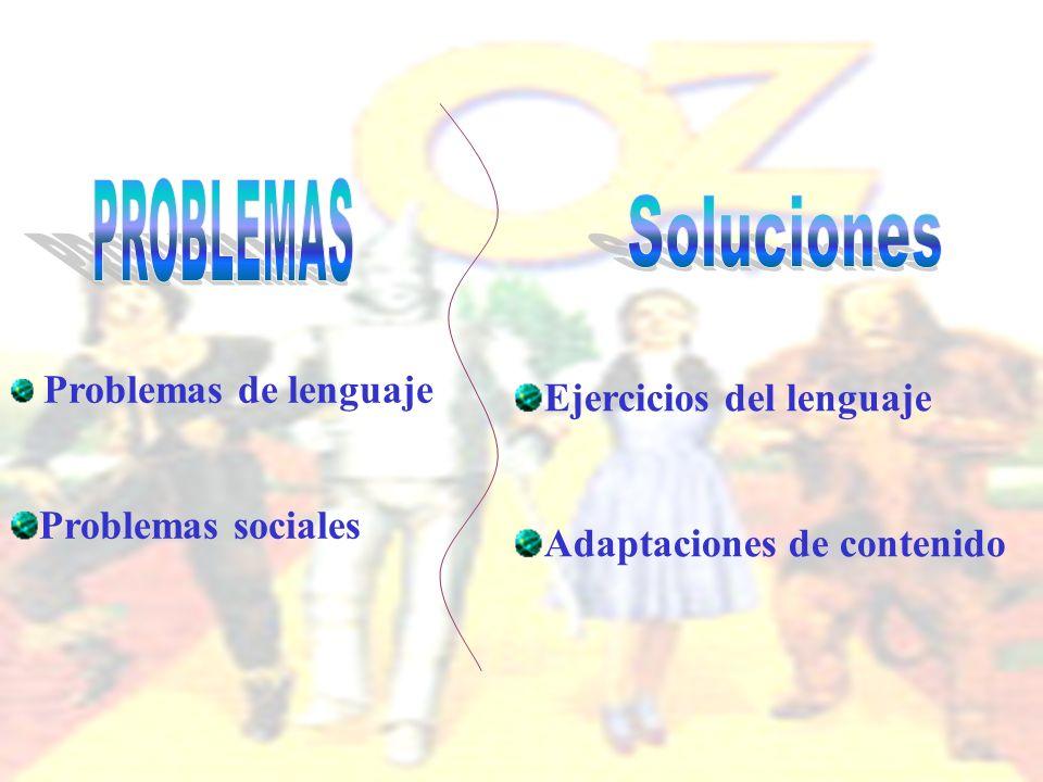 Soluciones PROBLEMAS Ejercicios del lenguaje Problemas sociales