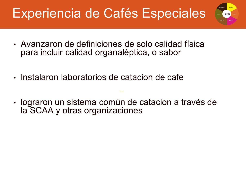 Experiencia de Cafés Especiales