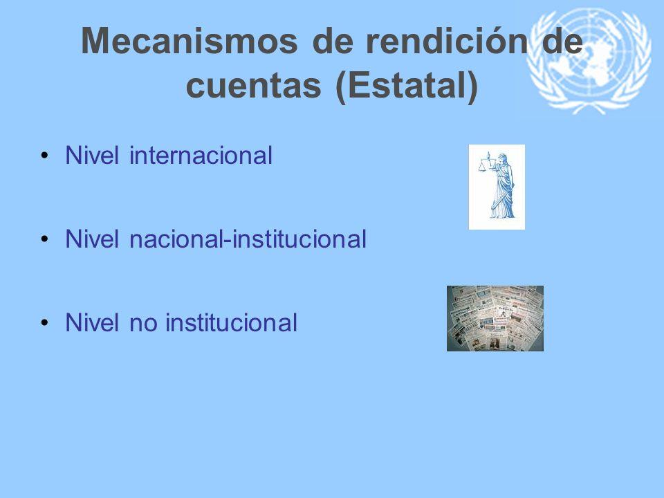 Mecanismos de rendición de cuentas (Estatal)
