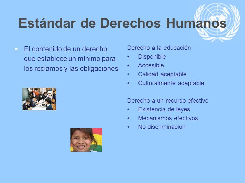 Estándar de Derechos Humanos