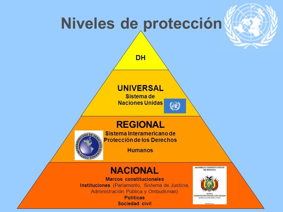 Niveles de protección REGIONAL NACIONAL UNIVERSAL DH