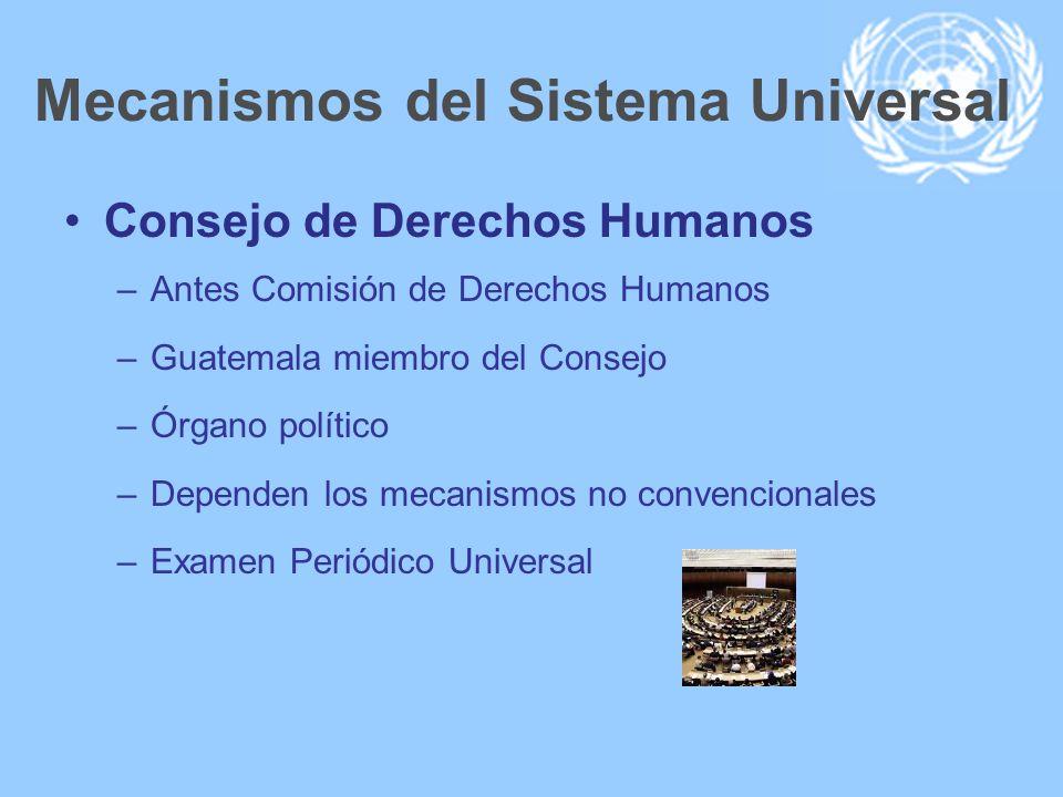 Mecanismos del Sistema Universal