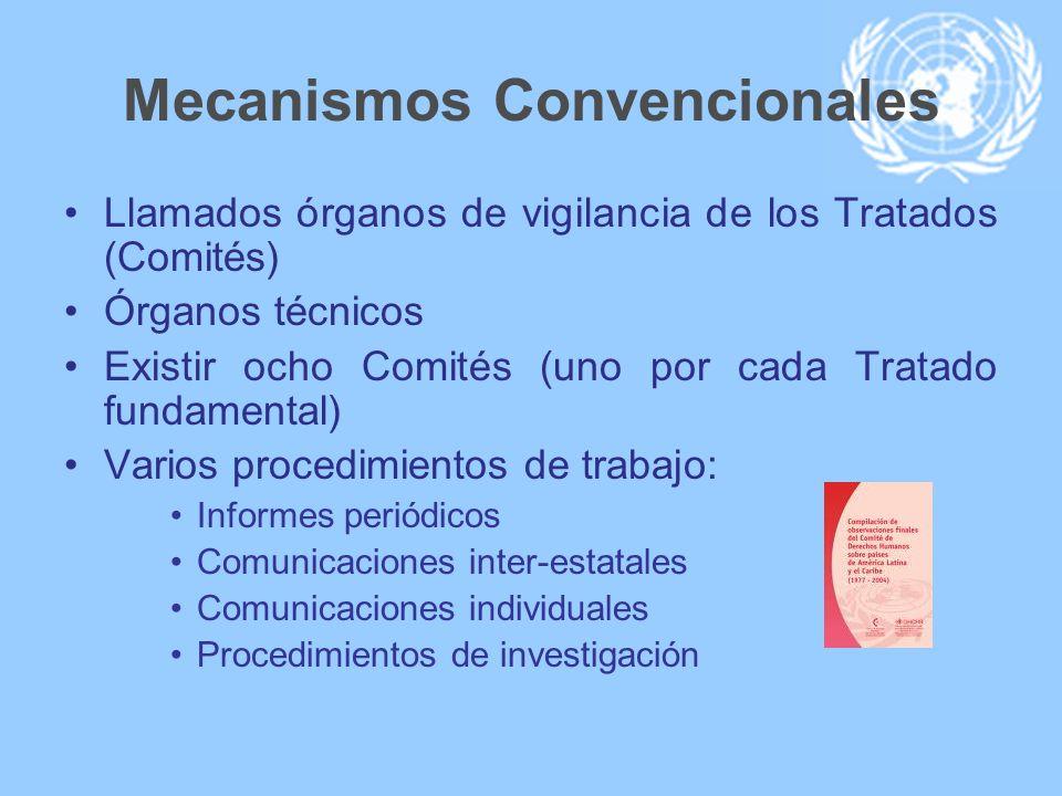 Mecanismos Convencionales