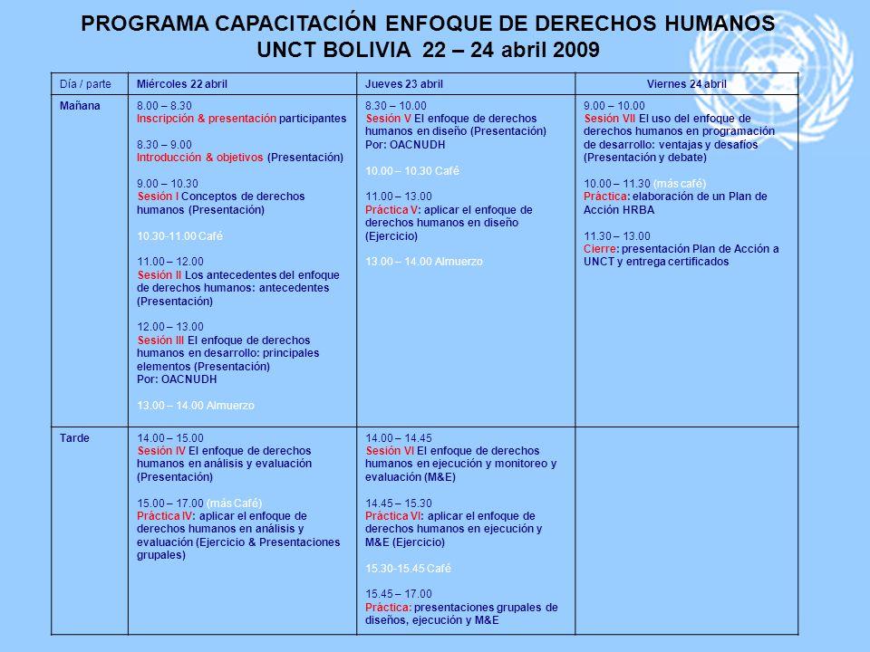 PROGRAMA CAPACITACIÓN ENFOQUE DE DERECHOS HUMANOS